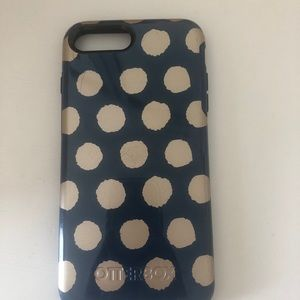 blue and gold otter box iphone 8 plus case
